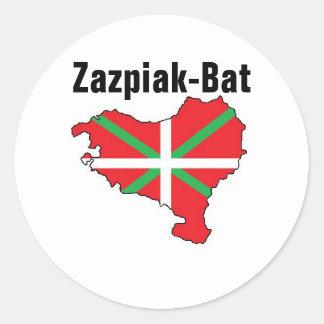 Sept provinces un autocollant Basque de pays