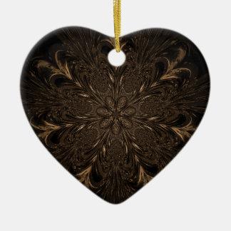 Sept roues faites varier le pas ornement cœur en céramique