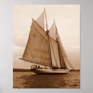 Sept voiles sur la mer de Salish Posters