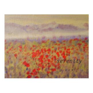 """""""sérénité"""" - une carte postale d'impression d'art"""