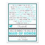 Serez-vous ma domestique d'honneur ? cartons d'invitation personnalisés