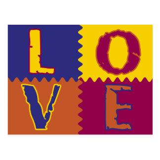 Série 2 de carte postale d'amour