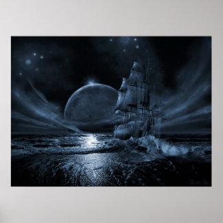 Série de bateau de fantôme Augmentation de plein Posters