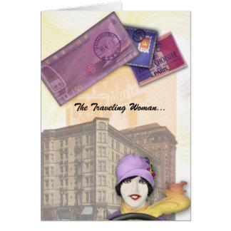 Série de déplacement de femme - aileron carte de vœux