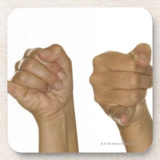 Série de mains faisant le signe de J Dessous-de-verre
