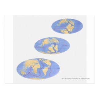 Série d'illustrations de la terre carte postale