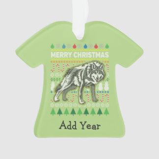 Série laide de faune de chandail de Noël de loup