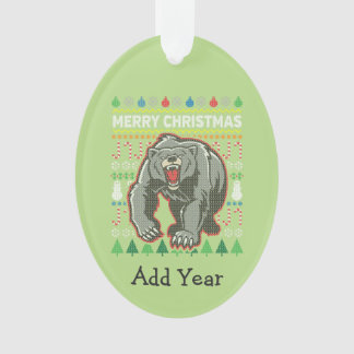 Série laide de faune de chandail de Noël d'ours
