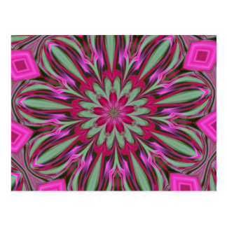 Série rose de kaléidoscope de Phlox Carte Postale