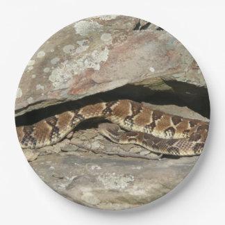 Serpent à sonnettes au parc national de Shenandoah Assiettes En Papier