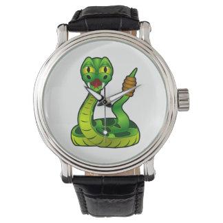 Serpent à sonnettes montres bracelet