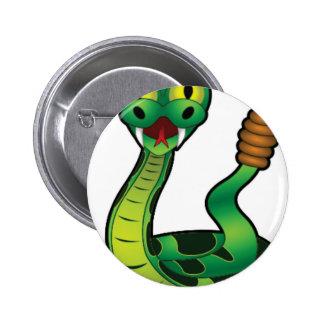 serpent à sonnettes solitaire pin's