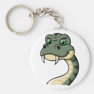Serpent de bande dessinée porte-clé rond