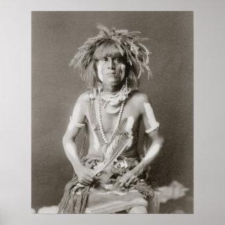 Serpent indien Priest 1910 Posters