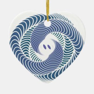 serpent ornement cœur en céramique