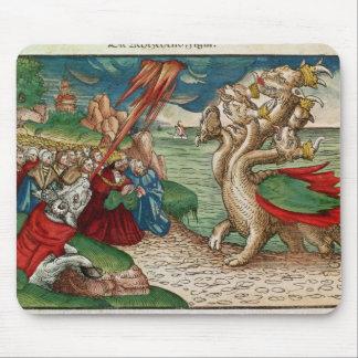 serpent Sept-dirigé du livre de Tapis De Souris