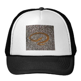 Serpent sur les pierres de pavé casquette