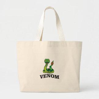 serpent vert de venin grand sac