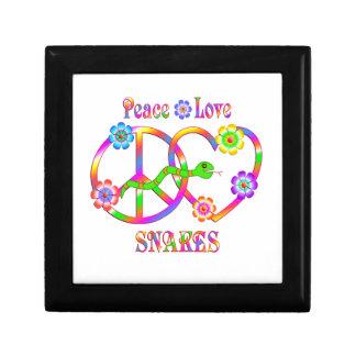 Serpents d'amour de paix boîte à souvenirs