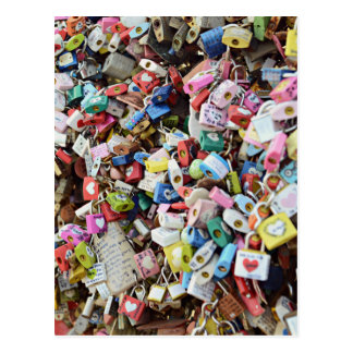 Serrures d'amour cartes postales