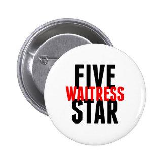 Serveuse de cinq étoiles badge