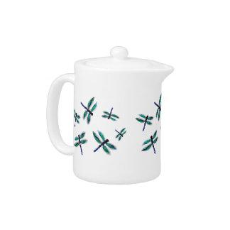 Service à thé d'art de libellule