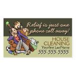Service de Housecleaning.Maid. Texte/couleur faits Modèles De Cartes De Visite