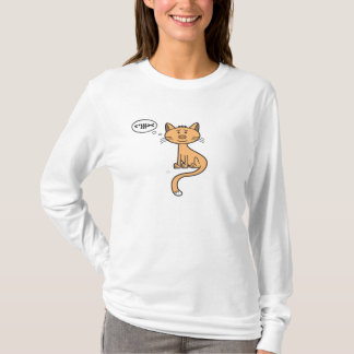 Service de mini-messages Kitty - longue douille de T-shirt