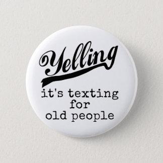 Service de mini-messages pour les personnes âgées badges