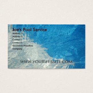Service de piscine cartes de visite