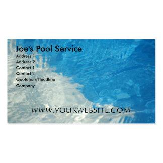 Service de piscine cartes de visite personnelles