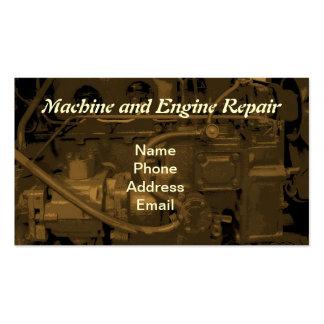 Service des réparations de machine et de moteur carte de visite standard