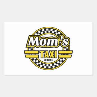 Service du taxi de la maman sticker rectangulaire