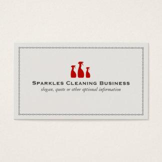 Service professionnel de nettoyage de Chambre Cartes De Visite