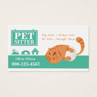 Service se reposant de bébé d'animal familier cartes de visite