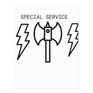 Service spécial carte postale