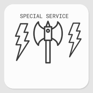 Service spécial sticker carré