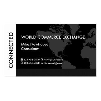 Services aux entreprises du monde carte de visite standard