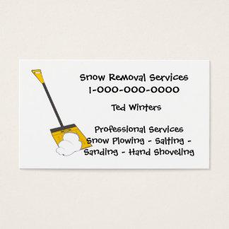 Services de déblaiement de neige cartes de visite