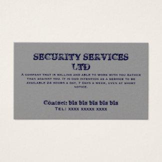 SERVICES DE SÉCURITÉ Ltd, contact : bla bl de bla Cartes De Visite