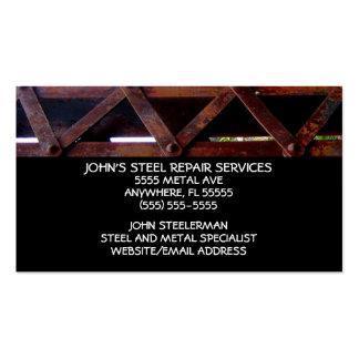 Services des réparations en acier carte de visite standard