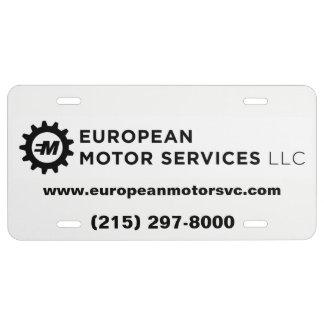 Services européens de moteur, LLC - plaque de