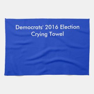 Serviette 2016 pleurante d'élection serviettes éponge