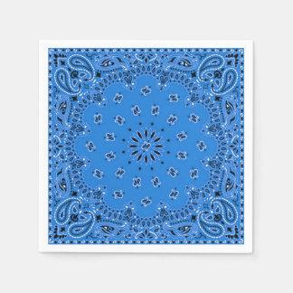 Serviette bleue de pique-nique de BBQ d'écharpe de Serviettes Jetables