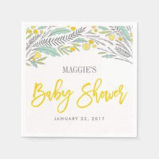 Serviette de baby shower customisée par neutre serviette en papier
