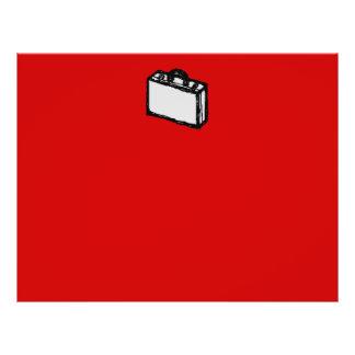 Serviette de bureau ou valise de voyage. Croquis.  Tract