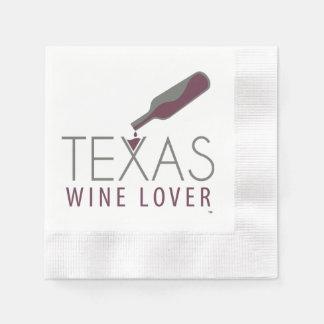 Serviette de cocktail d'amateur de vin du Texas Serviette En Papier