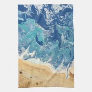 Serviette de cuisine abstraite de plage