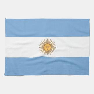Serviette de cuisine avec le drapeau de l Argentin Linge De Cuisine