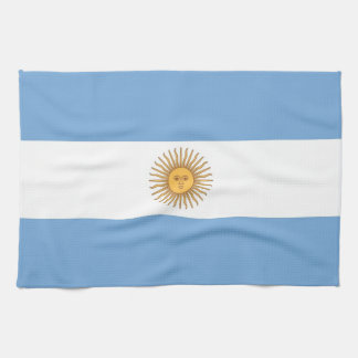 Serviette de cuisine avec le drapeau de l'Argentin Serviettes Éponge